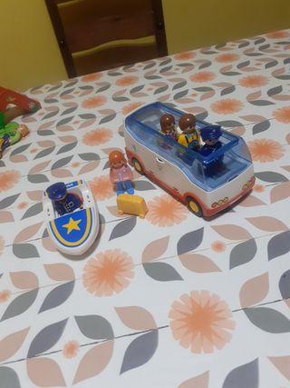 conjunto vehículos playmobil 1 2 3