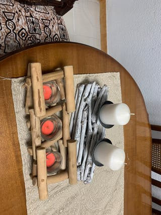 Candelabro + decorativo de mesa