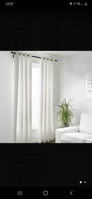 2 cortinas ikea con ollaos nuevas