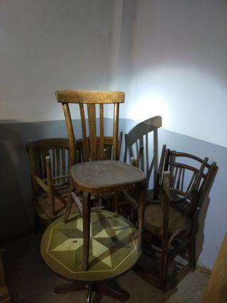 lote sillas madera restaurar