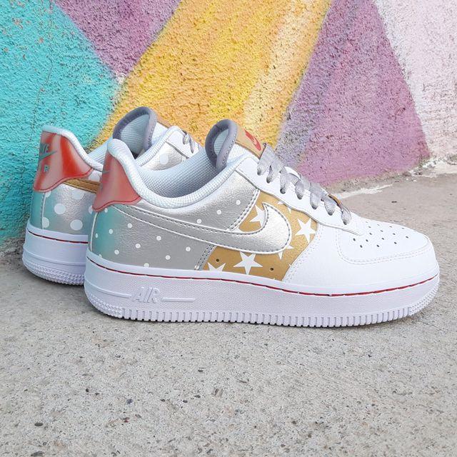 Nike Air Force 1 Stars Gold Varias Tallas Dispo!