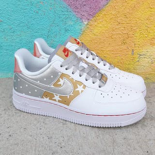 Nike Air Force 1 Stars Gold Varias Tallas Dispo!