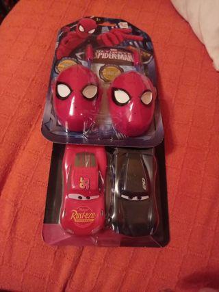 walkie talkie Spiderman y cars