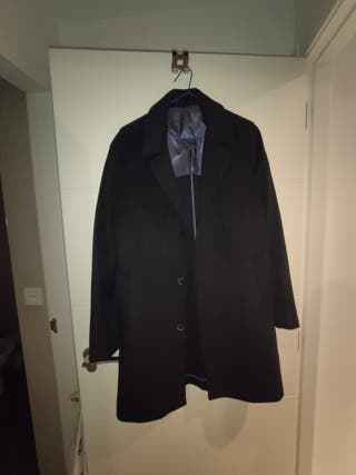 abrigo de paño mango hombre