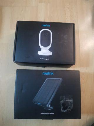 Security Camera + Solar Panel