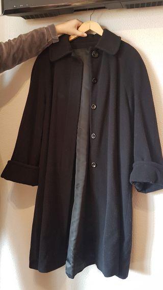 Abrigo negro de Paño. Mujer T-42.