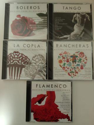 Colección de CD's de distintos tipos de música
