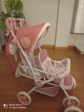 carrito gemelar muñecas