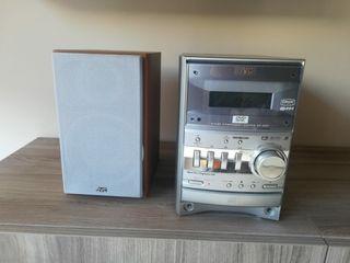 MINI CADENA JVC con DVD - CD.