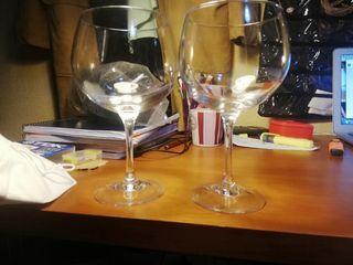 copas de cristal elegante