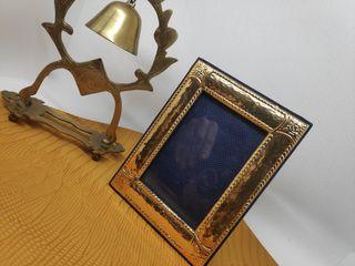 Marco fotos plata dorada