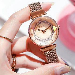 Reloj Diamante Lupai oro-rosa