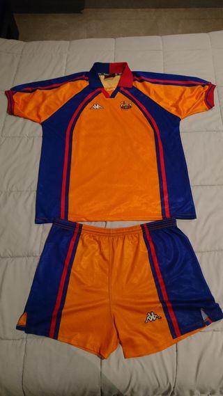 Camiseta y Pantalón Kappa FC Barcelona Champions