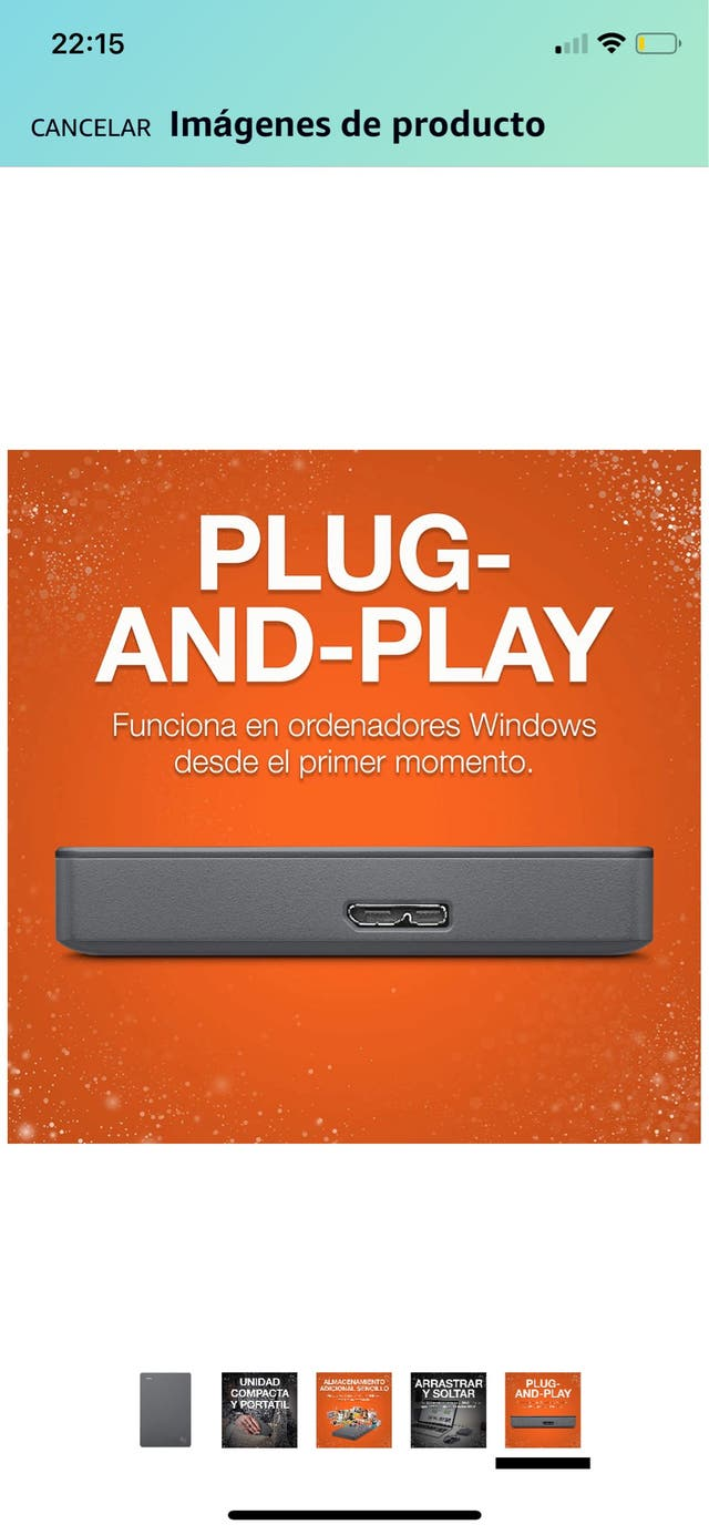 Disco duro externo 1 TB Seagate Basic portátil