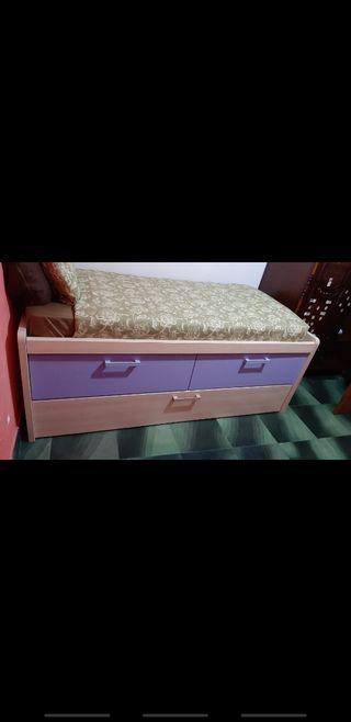 cama nido+escritorio+colchones