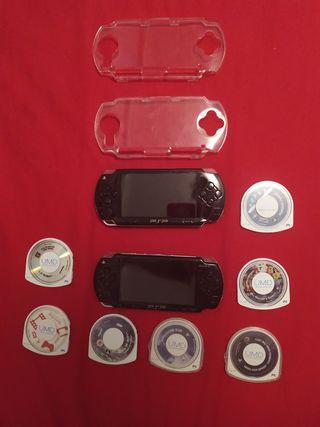 Lote de 2 PSP y 7 juegos