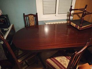 mesa para comedor con 6 sillas vintage