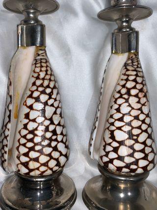 Pareja de candelabros de diseño art deco