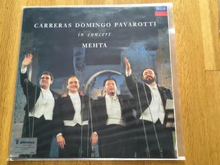 Carreras Domingo Pavarotti vinilo opera