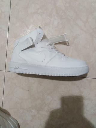 Nike air force de bota blancas