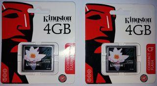 Memoria Compact Flash 4Gb Kingston - Nuevas