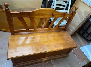 Banco arcón madera provenzal