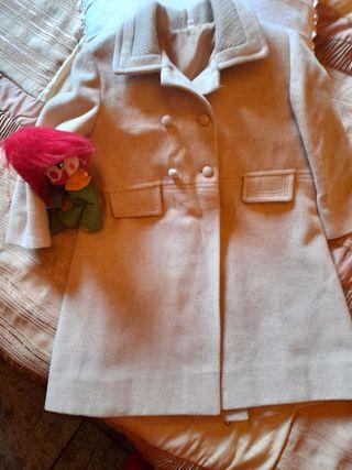 abrigo de paño de niña