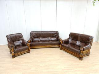 Sofas de Piel Rusticos color Marrón