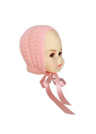 Capota de lana rosa bebé 3-6 meses