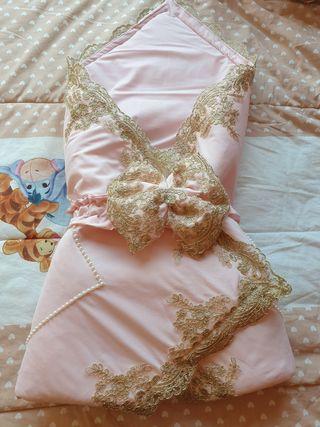 Saco rosa de bebé niña hasta 3 años