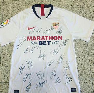 Camiseta Sevilla FC 19/20 firmada por la plantilla