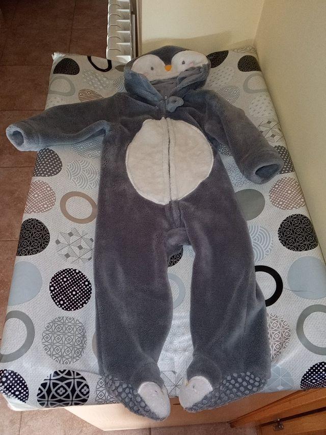 pijama disfraz mono pingüino 9 a 12 M polar bebé