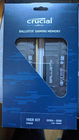 Crucial memoria RAM ddr4 8gb 3200 garantía