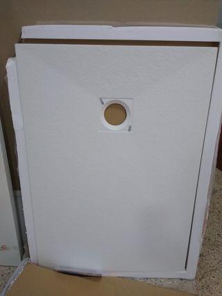 plato de ducha blanco 100x70 cm