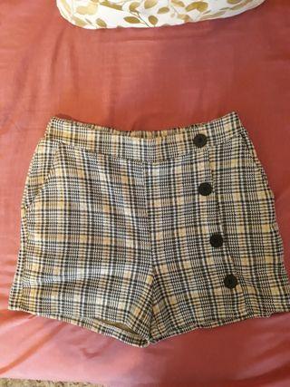shorts quadros de invierno talla S