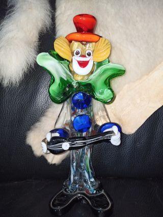payaso cristal de Murano.
