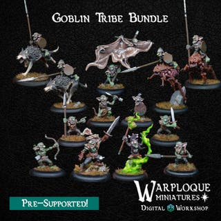 Tribu Goblin Miniaturas Wargames, Warhammer, 32mm