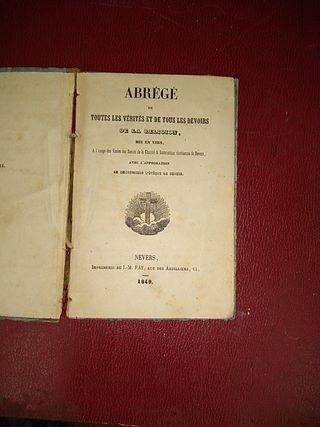 libro antiguo religioso 1849
