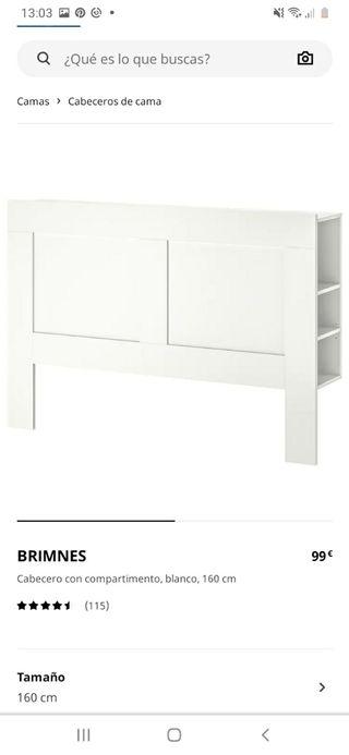 Cabecero 160 Ikea Brimnes