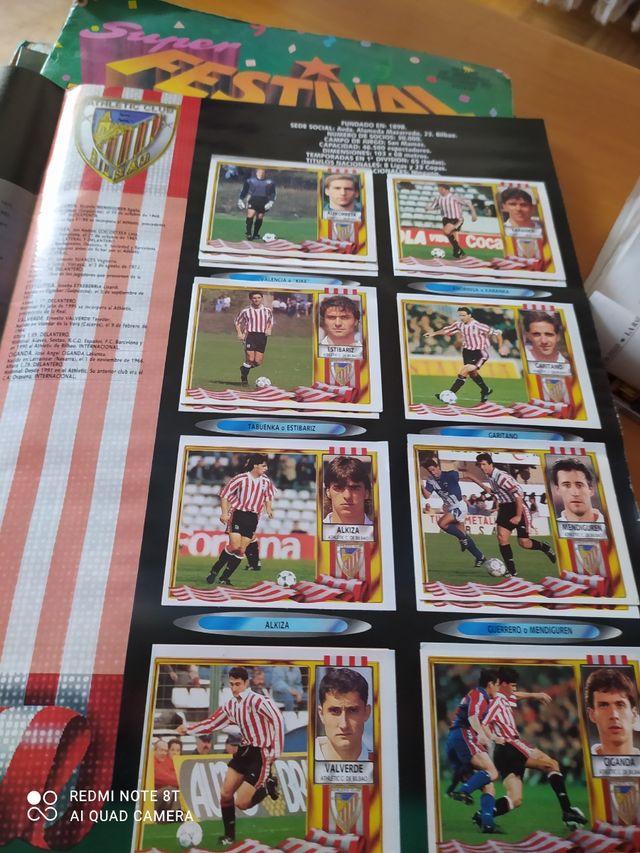 album cromos liga 95/96 completo