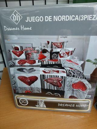 juego de sábanas nordica 90