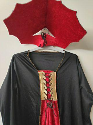 Disfraz vampira, gótica, bruja, Halloween...