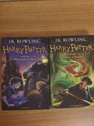 Libros Harry Potter en inglés, el 1 y el 2