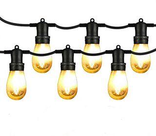 Guirnalda exterior luminosa cadena de 15 luces LED