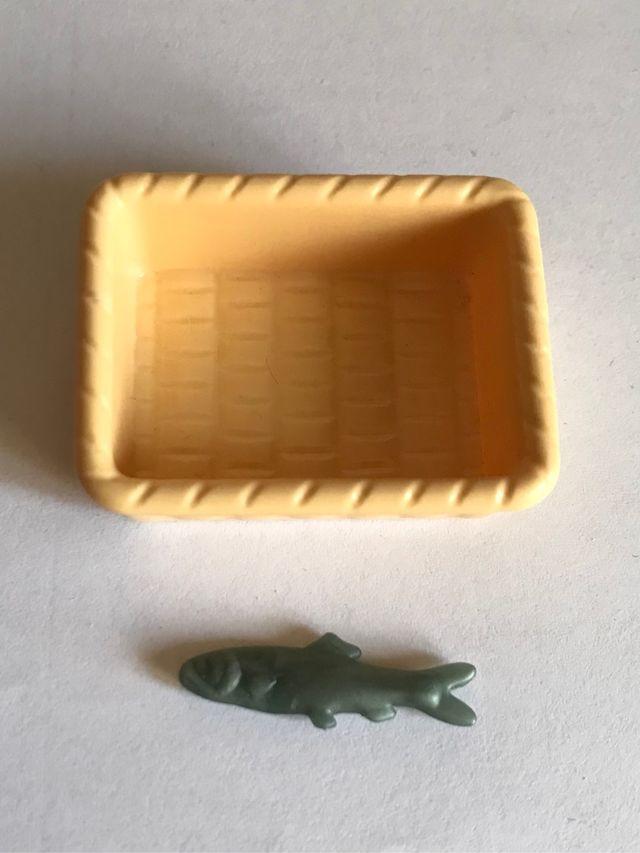 Playmobil cesta y pescado casa victoriana