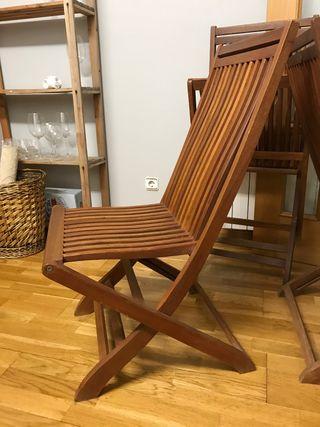 6 sillas de jardín plegables outdoor Durniture
