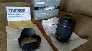 Objetivo Tamron 18-200 VC para Canon