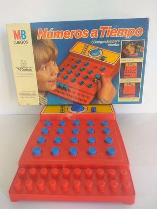 NÚMEROS A TIEMPO DE MB JUEGO VINTAGE DE MESA