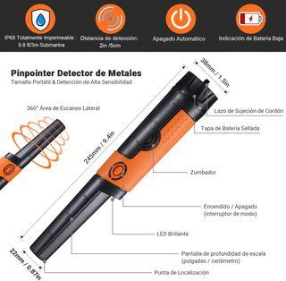 Detector de Metales Portátil, Impermeable