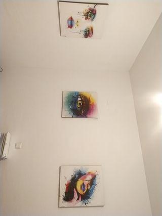 Cuadros multicolor contemporáneos